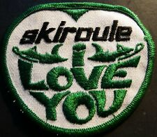 "VINTAGE SKIROULE I LOVE YOU SNOWMOBILE PATCH NEW 3"" X 3 1/2"" (710)"