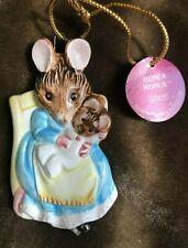 """Vintage ~ Schmid / Fw ~ Beatrix Potter """"Hunka Mumka ~ 1982 Ceramic Ornament"""