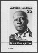 #2402 25c A. Phillip Randolph Stamp Publicity Photo Essay