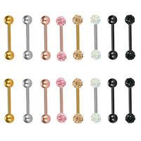 16PCS Nipple Rings Tongue Ring Surgical Steel Nipplerings Piercing Women Jewelry