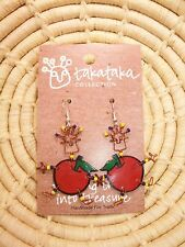 Recycled Dancing Girl Apple Earrings new Fair Trade from Africa jedg31
