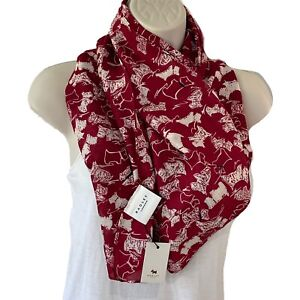Radley Red Scratchy White Dog Long Scarf