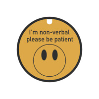 I'm Non Verbal Tag & Lanyard - Bright, Bold & Designed to Raise Awareness