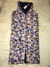 NWT J Crew Collection Wool Silk Blue Floral  Dress  Sz 6