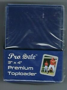 100 Pro Safe Premium 3x4 Sports Card Toploaders & 100 Pro Safe Sleeves