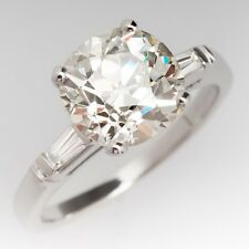 Solitaire 3.75 CT Round White Moissanite 925 Silver Engagement Anniversary Ring