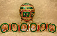 """Faberge egg Napoleonic egg with a portrait gift box (4.3""""). Made in Russia"""