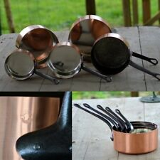 More details for  french copper pots pans cuisine saucepan casseroles tin lined bake fry