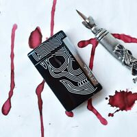 ST Dupont MiniJet Black Skull & Chrome Finish Lighter