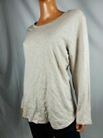 New Style&Co Women's Long Sleeve Beige Solid Scoop-Neck Blouse Top Size Plus 2X