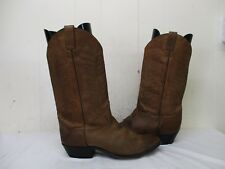 Diamond J by Justin Brown Leather Cowboy Boots Mens Size 8.5 EE Style 51014M