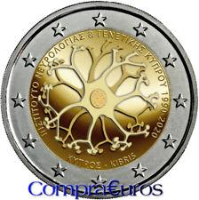 2 Euros Conmemorativos CHIPRE 2020 *Neurología y Genética* Sin Circular