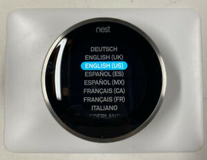 NEST, 3rd Generation, A0013, Stainless Steel, Programmable Thermostat.