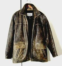 Vtg Distressed Wilsons M Julian Supernatural Leather Motorcycle Jacket Sz XL