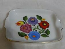 Kalocsa Handpainted Porcelain Floral Design Pin Dish Ashtray Made in Hungary
