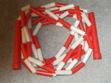 Beaded  Red/White Jump Rope - Kids, Schools or Playground 10 ft Skipping Rope