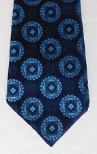Blue check circles tie vintage 1960s St Michael Marks and Spencers wide