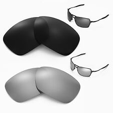 New Walleva Polarized Black + Titanium Lenses For Oakley Inmate