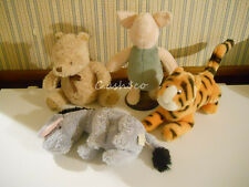Classic Pooh Tigger Piglet Eeyore Disney plush stuffed  Lot of 4   NICE!