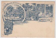 Spreewald Gasthof zur Bleiche bei Lübben Lübbenau Vorläufer AK vor 1896
