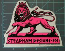 "Steve Steadham Design S.G.I.- Pink - ""Lion"", Powell Peralta, NOS, 1986, vntg"