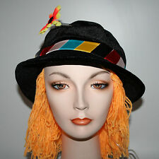Clown Hat squirt flower hair comedy circus novelty costume prank gag joke prop