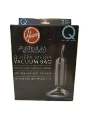 GENUINE Hoover AH10000 Platinum Type-Q HEPA Vacuum Bag - 2 Count