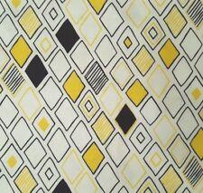 Sunburst BTY Studio 8 Quilting Treasures Diamonds Black Yellow on White
