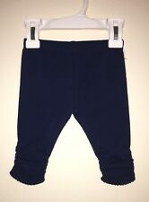 NWT Baby Girl 0-3 Mos Navy Pull On Pants Leggings TWINS New