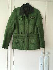 BARBOUR INTERNATIONAL  quilted ladies jacket green size 12 New