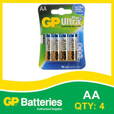GP Ultra Plus Alkaline AA Battery card of 4 [MP3, CAMERAS GAMES CONSOLES]