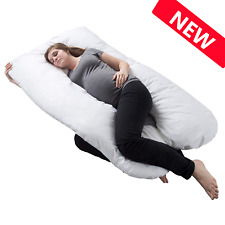 Pregnancy Pillow, Full Body Maternity Pillow back suppor with Contoured U-Shape