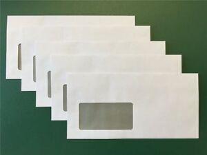 Briefumschläge Umschlag Brief DIN lang 110 x 220mm selbstklebend mit Fenster