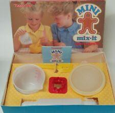 Vintage Tupperware Tuppertoys Mini Mix It Children's Mixing Set Complete In Box