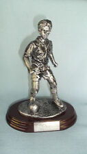 male SOCCER statue trophy  resin silver RF511