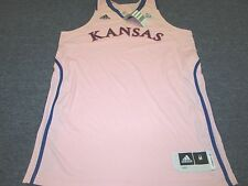 ADIDAS WOMEN'S NCAA AUTHENTIC KANSAS JAYHAWKS BASKETBALL PINK JERSEY SIZE M