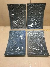 """4pc Lot of 11"""" by 7.5"""" Antique Ceiling Tin Metal Reclaimed Salvage Art Craft"""