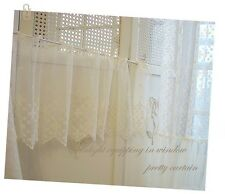 """1y Vintage Embroidered lace Window Valance curtain 36""""W X 12""""L(90x31cm) laceking"""