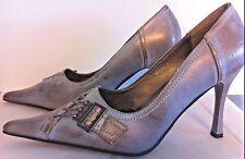 Golden blue jean heels Charlotte Russe Stilettos pointed toe ladies shoes sz 9 M