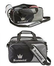 TWO Brunswick 2 Ball Tournament Tote Bowling Bags with & without Shoe Pocket