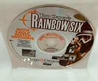 Tom Clancy's Rainbow Six (Sega Dreamcast, 2000) Disc Only Good Tested Works