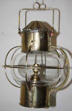Brass Round Globe Hanging Bridge Safety Lantern Lamp  Reproduction??