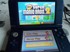 Nintendo New 3DS XL Metallic Blue Handheld System VERY GOOD CONDITION + 4 GAMES