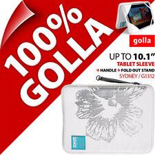 "NUEVO Golla Tableta Manga Bolsa Funda Acolchada con Soporte para 10.1"" iPad 3/4"
