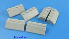 LEGO 2X4 Dachstein grigio chiaro / 6 pezzi