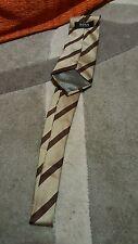 Cravatta Hugo Boss  vintage tie necktie made in Italy silk diagonal stripe