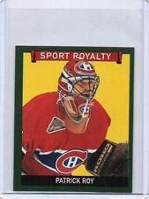PATRICK ROY Canadiens 2009 UD Goudey Sport Royalty #250 Mini Green Parallel SP