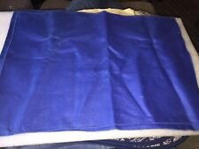"""4 NEW SOLID BLUE CLOTH NAPKINS 18"""" by 12 1/4"""""""
