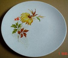 Grindley Dinner Plate Grey Speckled With Yellow Flower Leaves