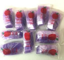 Top Quality Bag 3434 Purple 1000 Apple Brand Mini Reclosable Baggies